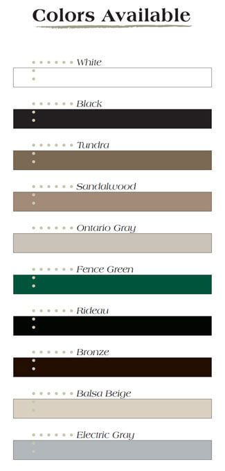 STAR Colors Available - Windeck Ltd. - Deck Builder Winnipeg, Manitoba