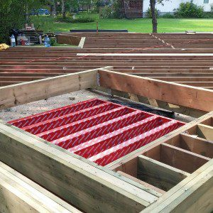 Framing decks with hot tubs for Ready made decking frame