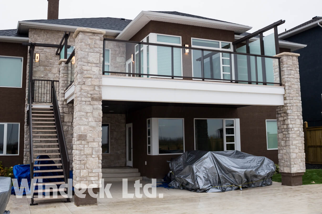 Second Floor Walkout Deck - Windeck Ltd. - Composite Decking Winnipeg, Manitoba