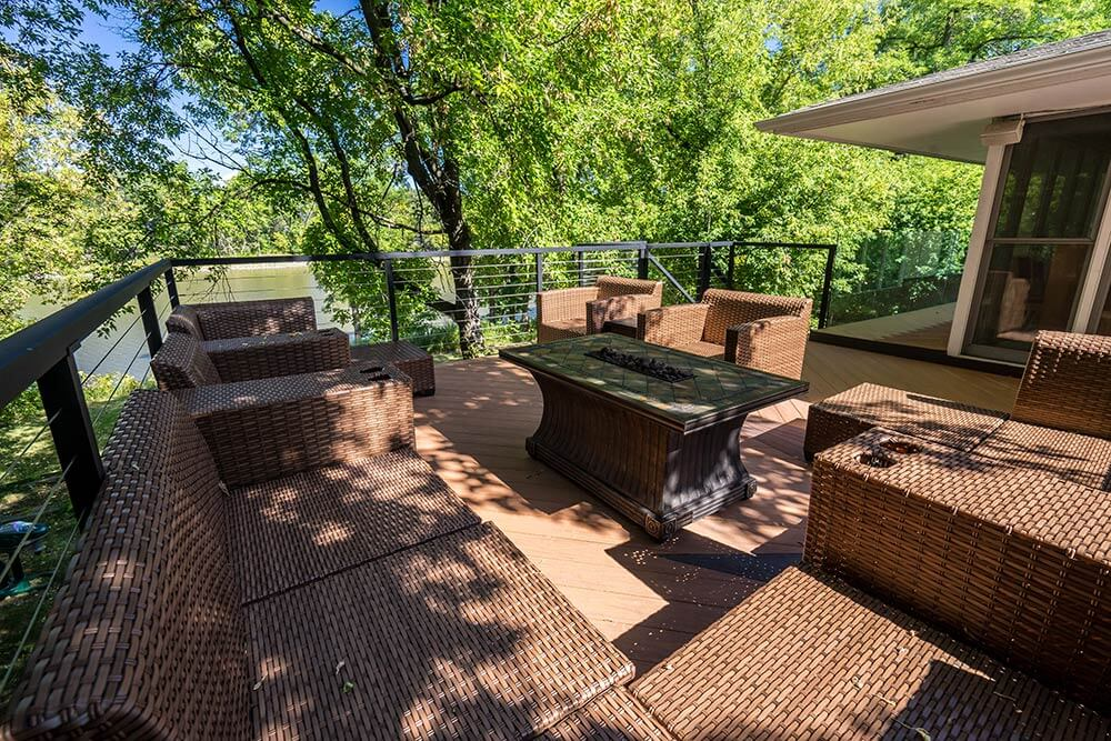 Unobstructed Deck Views of the River - Windeck Ltd. - Composite Decking Winnipeg, Manitoba