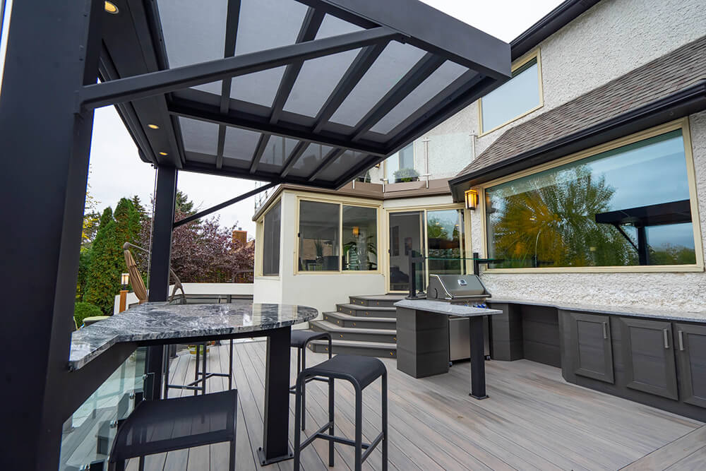 Privacy, pergola, pool party paradise - Windeck Ltd. - Deck Builder Winnipeg, Manitoba