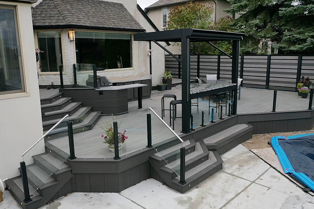 Privacy, pergola, pool party paradise - Windeck Ltd. - Composite Decking Winnipeg, Manitoba