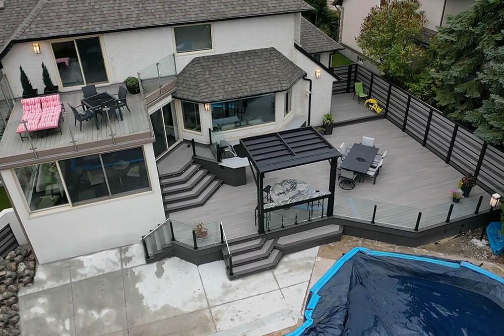 Privacy, pergola, pool party paradise - Windeck Ltd. - Deck Builder Winnipeg, Manitoba